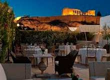 hotel athene zicht op akropolis