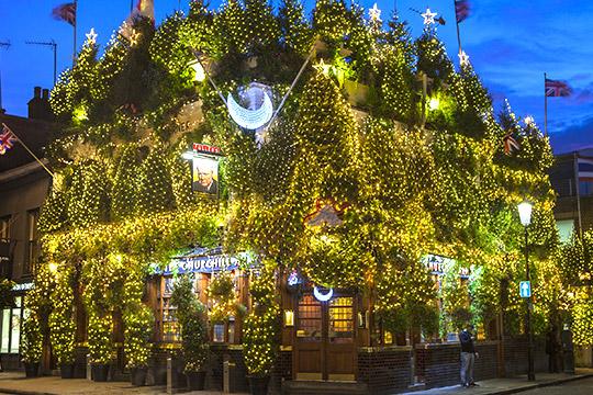 londense pub kerst