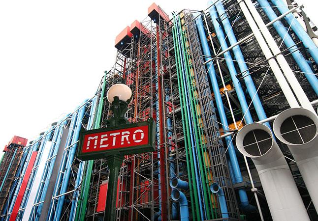 metro centrum pompidou